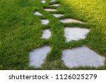 stepping stones walking path...   Shutterstock . vector #1126025279