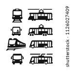 vector set of different sity... | Shutterstock .eps vector #1126027409