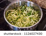 zoodles zucchini noodles close... | Shutterstock . vector #1126027430