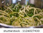 zoodles zucchini noodles close... | Shutterstock . vector #1126027433
