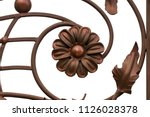 wrought iron gates  ornamental... | Shutterstock . vector #1126028378
