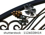 wrought iron gates  ornamental... | Shutterstock . vector #1126028414