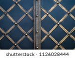wrought iron gates  ornamental... | Shutterstock . vector #1126028444