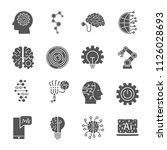 artificial intelligence... | Shutterstock .eps vector #1126028693
