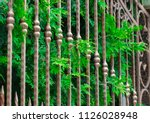 wrought iron gates  ornamental... | Shutterstock . vector #1126028948