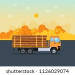 cargo working car with spiked... | Shutterstock .eps vector #1126029074