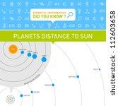 vector infographic   planets... | Shutterstock .eps vector #112603658