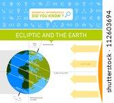vector infographic   ecliptic... | Shutterstock .eps vector #112603694
