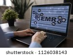 electronic health record. ehr ... | Shutterstock . vector #1126038143