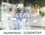 lean manufacturing. quality and ... | Shutterstock . vector #1126045769