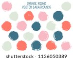 vector grunge circles isolated. ... | Shutterstock .eps vector #1126050389