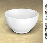 white empty bowl cup plate food ... | Shutterstock .eps vector #1126050989
