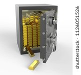 3d safe box with gold | Shutterstock . vector #1126051526