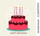 happy birthday poster... | Shutterstock . vector #1126055393