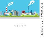 industrial factory background.... | Shutterstock .eps vector #1126055504