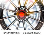 close up alloy wheels. front... | Shutterstock . vector #1126055600