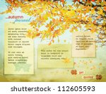 autumn journal   background... | Shutterstock .eps vector #112605593