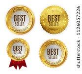 best seller golden shiny label... | Shutterstock . vector #1126057226