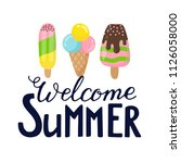 summer labels  logos  hand... | Shutterstock .eps vector #1126058000