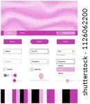 light pink vector ui ux kit...