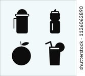 food related set of 4 icons... | Shutterstock . vector #1126062890