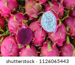 dragon fruits for sale at rural ... | Shutterstock . vector #1126065443