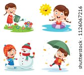 vector illustration of seasons | Shutterstock .eps vector #1126067216