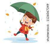 vector illustration of girl... | Shutterstock .eps vector #1126067249