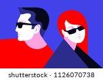 couple in love. romantic...   Shutterstock .eps vector #1126070738