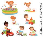 various games and toys for... | Shutterstock .eps vector #1126072916