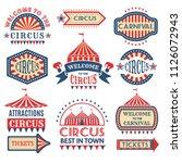 carnival event logotypes... | Shutterstock .eps vector #1126072943