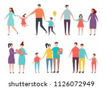 family couples. non traditional ... | Shutterstock .eps vector #1126072949
