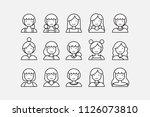 set of minimal people vector. | Shutterstock .eps vector #1126073810