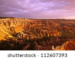 a beautiful view of bryce... | Shutterstock . vector #112607393