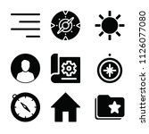 interface related set of 9...   Shutterstock .eps vector #1126077080