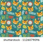 tigers  vector seamless pattern | Shutterstock .eps vector #1126079096
