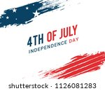 happy 4th of july usa... | Shutterstock .eps vector #1126081283