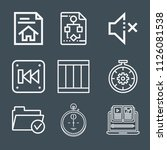 interface icon set   outline... | Shutterstock .eps vector #1126081538