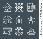 money icon set   outline... | Shutterstock .eps vector #1126082636