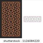 decorative panel. stencil...   Shutterstock .eps vector #1126084220