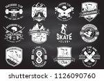 set of skateboard and longboard ... | Shutterstock .eps vector #1126090760
