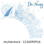 outline da nang vietnam city... | Shutterstock .eps vector #1126090916