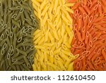 Pasta Italian flag texture - stock photo