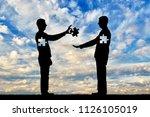 a man is an altruist  a donor... | Shutterstock . vector #1126105019