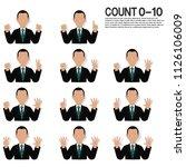 set of businessman is...   Shutterstock .eps vector #1126106009