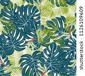 beautiful tropical seamless... | Shutterstock .eps vector #1126109609