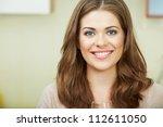 closeup woman face portrait.   Shutterstock . vector #112611050