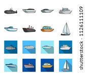 protection boat  lifeboat ... | Shutterstock . vector #1126111109