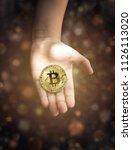 cryptocurrency bitcoin digital...   Shutterstock . vector #1126113020