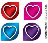 heart label design set | Shutterstock . vector #112611536